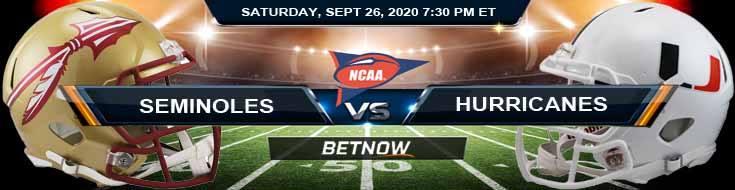 Florida State Seminoles vs Miami Hurricanes 09-26-2020 NCAAF Spread Results & Analysis