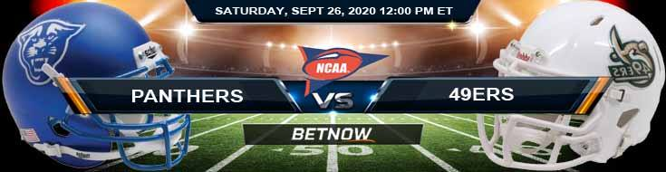 Georgia State Panthers vs Charlotte 49ers 09-26-2020 NCAAF Previews Picks & Odds