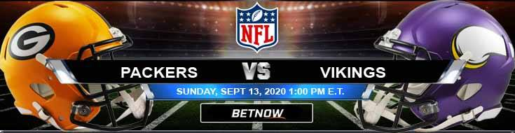 Green Bay Packers vs Minnesota Vikings 09-13-2020 Previews Spread and Game Analysis