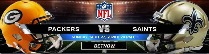 Green Bay Packers vs New Orleans Saints 09-27-2020 Previews Spread and Game Analysis