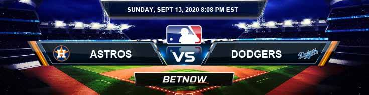 Houston Astros vs Los Angeles Dodgers 09-13-2020 Tips Forecast and Analysis