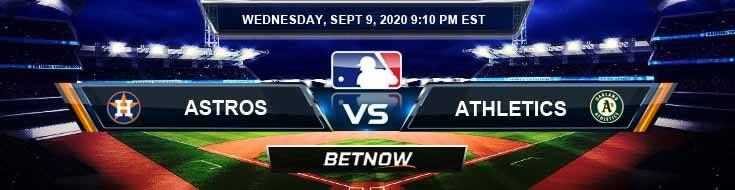 Houston Astros vs Oakland Athletics 09-09-2020 Baseball Betting Tips and Forecast