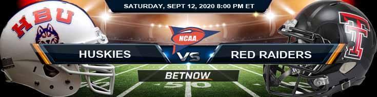 Houston Baptist Huskies vs Texas Tech Red Raiders 09-12-2020 NCAAF Odds Picks & Spread