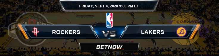 Houston Rockets vs Los Angeles Lakers 9-4-2020 NBA Picks and Previews