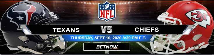 Houston Texans vs Kansas City Chiefs 09-10-2020 Odds Picks and Predictions