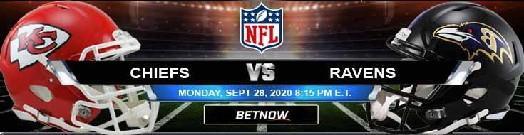 Kansas City Chiefs vs Baltimore Ravens 09-28-2020 Spread Game Analysis and Tips