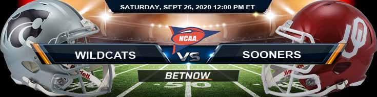 Kansas State Wildcats vs Oklahoma Sooners 09-26-2020 NCAAF Picks Spread & Forecast