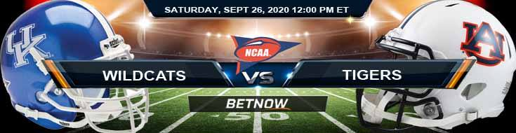 Kentucky Wildcats vs Auburn Tigers 09-26-2020 NCAAF Predictions Analysis & Odds