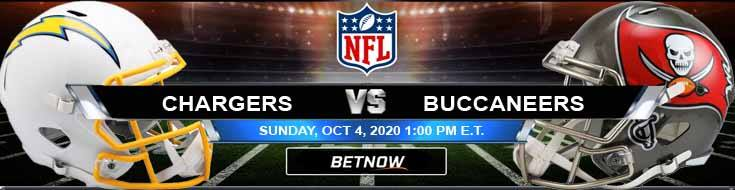 Los Angeles Chargers vs Tampa Bay Buccaneers 10-04-2020 Previews Spread and Game Analysis