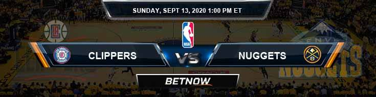 Los Angeles Clippers vs Denver Nuggets 9-13-2020 Odds Picks and Previews