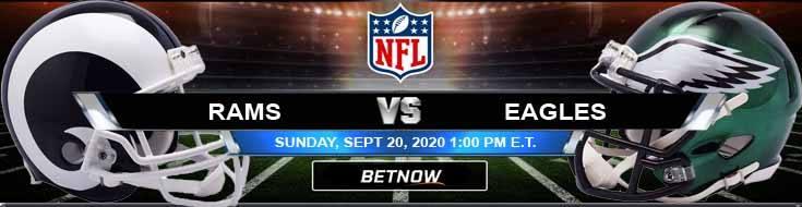 Los Angeles Rams vs Philadelphia Eagles 09-20-2020 Analysis Results and Football Betting