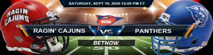 Louisiana Ragin' Cajuns vs Georgia State Panthers 09-19-2020 NCAAF Tips Forecast & Analysis