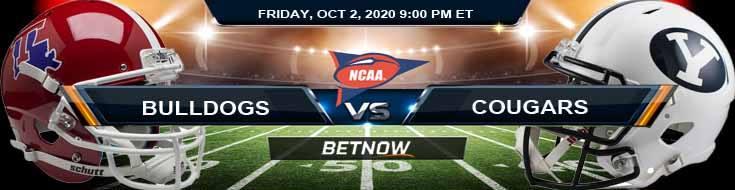 Louisiana Tech Bulldogs vs BYU Cougars 10-02-2020 NCAAF Picks Predictions & Previews