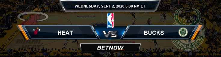 Miami Heat vs Milwaukee Bucks 9-2-2020 Odds Picks and Previews