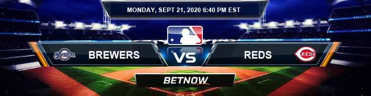 Milwaukee Brewers vs Cincinnati Reds 09-21-2020 Spread Game Analysis and Baseball Betting