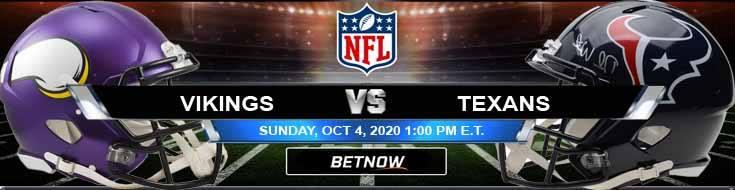 Minnesota Vikings vs Houston Texans 10-04-2020 Results Football Betting and Odds