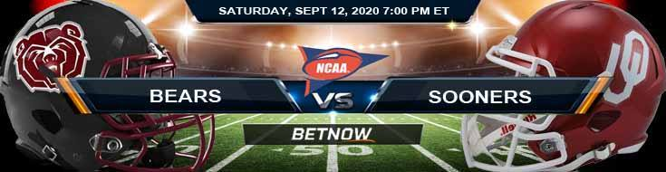 Missouri State Bears vs Oklahoma Sooners 09-12-2020 NCAAF Odds Predictions & Spread