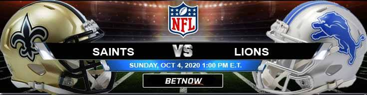 New Orleans Saints vs Detroit Lions 10-04-2020 Predictions Previews and Spread
