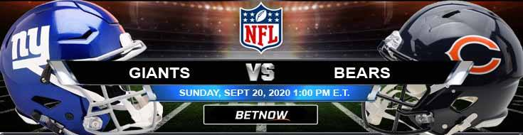 New York Giants vs Chicago Bears 09-20-2020 Picks Predictions and Previews