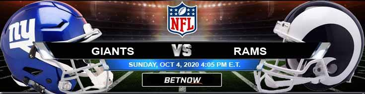 New York Giants vs Los Angeles Rams 10-04-2020 Odds Picks and Predictions
