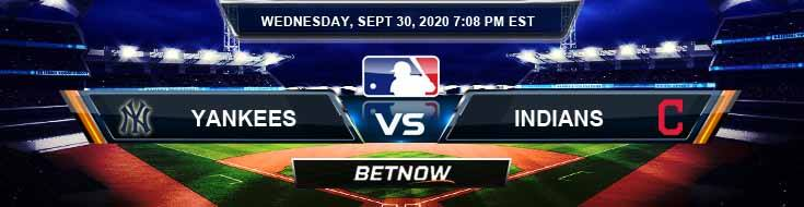 New York Yankees vs Cleveland Indians 09-30-2020 Spread Previews and Predictions