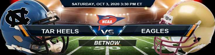 North Carolina Tar Heels vs Boston College Eagles 10-03-2020 NCAAF Odds Picks & Forecast