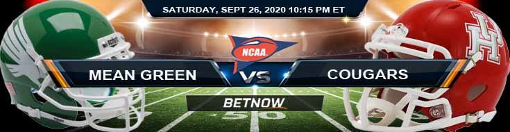 North Texas Mean Green vs Houston Cougars 09-26-2020 NCAAF Odds Spread & Analysis
