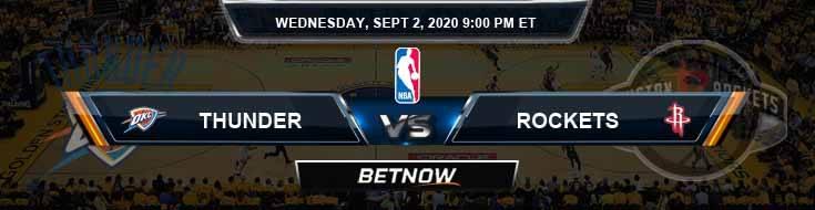 Oklahoma City Thunder vs Houston Rockets 9-2-2020 NBA Picks and Previews