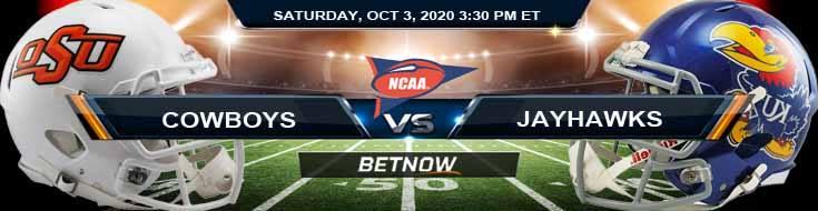 Oklahoma State Cowboys vs Kansas Jayhawks 10-03-2020 NCAAF Results Previews & Picks