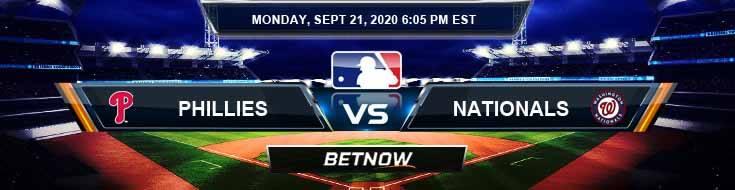 Philadelphia Phillies vs Washington Nationals 09-21-2020 Predictions Previews and Spread