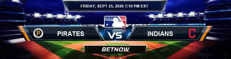 Pittsburgh Pirates vs Cleveland Indians 09-25-2020 Spread Tips and Analysis