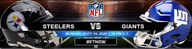 Pittsburgh Steelers vs New York Giants 09-14-2020 Odds Picks and Predictions