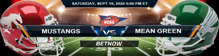 SMU Mustangs vs North Texas Mean Green 09-19-2020 NCAAF Picks Results & Forecast