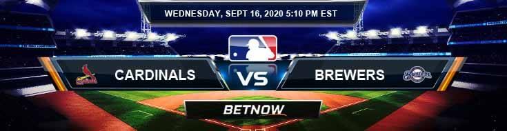 Saint Louis Cardinals vs Milwaukee Brewers 09-16-2020 Game Analysis Tips and Baseball Betting