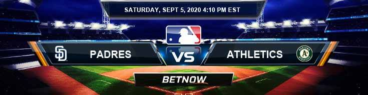 San Diego Padres vs Oakland Athletics 09-05-2020 Odds Picks and Predictions