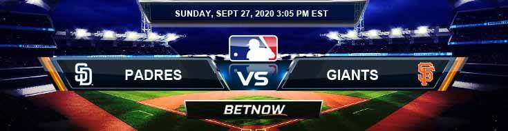 San Diego Padres vs San Francisco Giants 09-27-2020 Tips Baseball Betting and Game Analysis