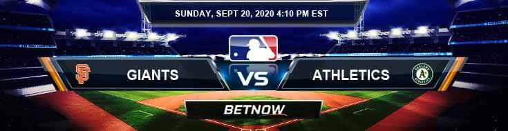 San Francisco Giants vs Oakland Athletics 09-20-2020 Odds Predictions and Spread