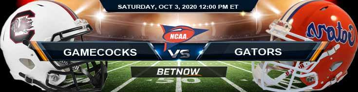 South Carolina Gamecocks vs Florida Gators 10-03-2020 NCAAF Results Picks & Predictions