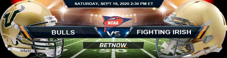 South Florida Bulls vs Notre Dame Fighting Irish 09-19-2020 NCAAF Results Analysis & Forecast
