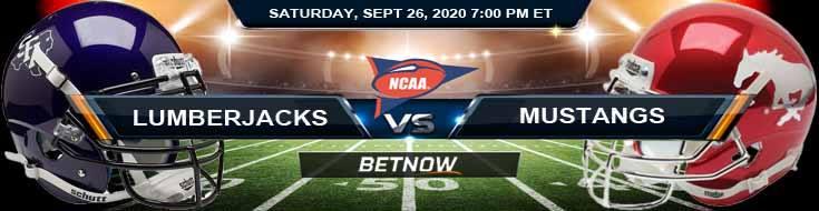 Stephen F. Austin Lumberjacks vs SMU Mustangs 09-26-2020 NCAAF Preview Results & Analysis