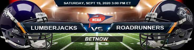 Stephen F. Austin Lumberjacks vs UTSA Roadrunners 09-19-2020 NCAAF Odds Picks & Predictions