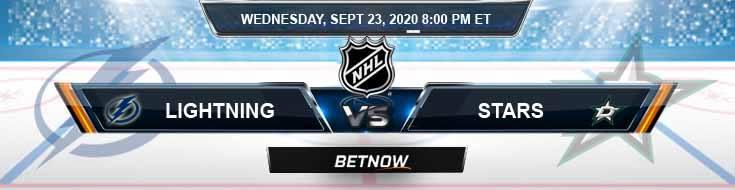Tampa Bay Lightning vs Dallas Stars 09-23-2020 NHL Predictions Spread & Odds
