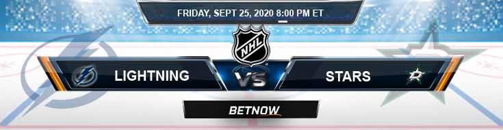 Tampa Bay Lightning vs Dallas Stars 09-25-2020 NHL Odds Predictions & Spread