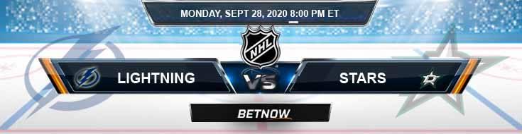 Tampa Bay Lightning vs Dallas Stars 09-28-2020 NHL Predictions Spread & Odds