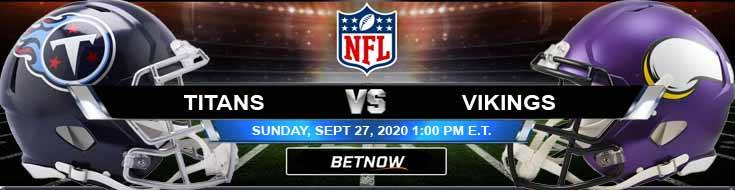 Tennessee Titans vs Minnesota Vikings 09-27-2020 Spread Game Analysis and Tips