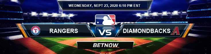 Texas Rangers vs Arizona Diamondbacks 09-23-2020 Previews Spread and Game Analysis