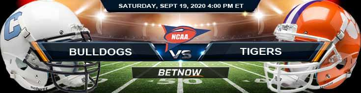 The Citadel Bulldogs vs Clemson Tigers 09-19-2020 NCAAF Forecast Analysis & Results
