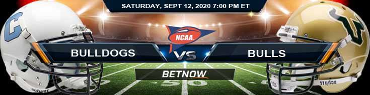 The Citadel Bulldogs vs South Florida Bulls 09-12-2020 NCAAF Spread Odds & Picks