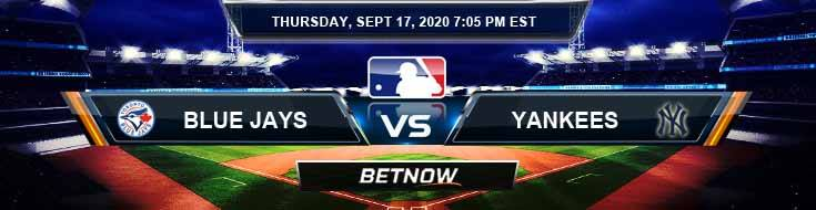 Toronto Blue Jays vs New York Yankees 09-17-2020 Results Analysis and Forecast