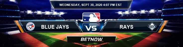 Toronto Blue Jays vs Tampa Bay Rays 09-30-2020 Baseball Betting Game Analysis and Spread